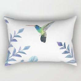 Hummingbird with tropical foliage Rectangular Pillow