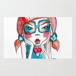 girl with cherry Rug