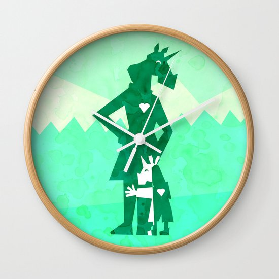 Happy Mother's Day Unicorn Wall Clock