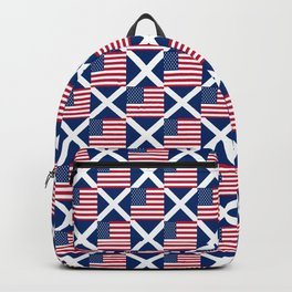 Mix of flag : usa and scotland Backpack