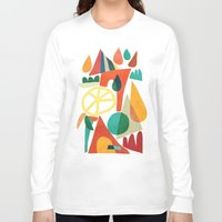 house Long Sleeve T-shirts featuring Summer Fun House by Picomodi