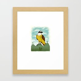 Bichofue cali // great kiskadee colombia Framed Art Print