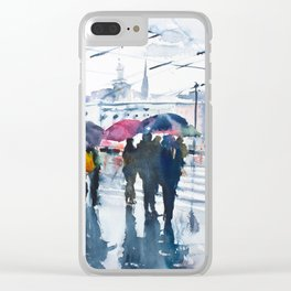Red Light Clear iPhone Case
