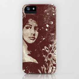 untitled #28914: Amaranth (sunflower bikini girl) iPhone Case