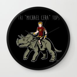 "Tri ""Michael Cera"" tops Wall Clock"