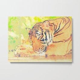 Tiger painting wall art Metal Print
