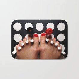 Rosy Toes Bath Mat