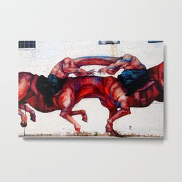 Headless Horsemen Graffiti Metal Print