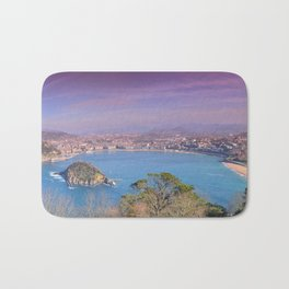 La Concha Bay seen from Igeldo Mount. Bath Mat