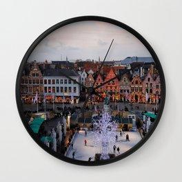 Belgium, Christmas Market Wall Clock