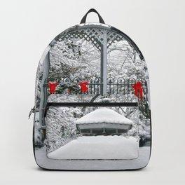 Gazebo in the Snow Backpack