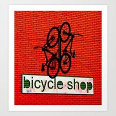Bicycle Shop Art Print
