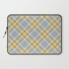 Yellow Gray Plaid Rug Laptop Sleeve