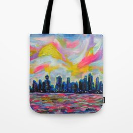 An Evening In Vancouver Tote Bag