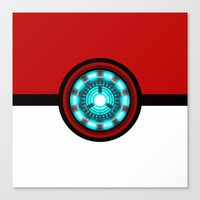 pokeball Canvas Prints featuring Pokeball Reactor by aleha