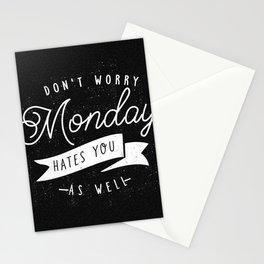Monday Blues Stationery Cards