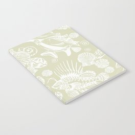 Ocean Critters with Grey Background Notebook