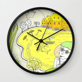 Lemon paradise Wall Clock