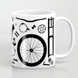 Downhill Bike Parts Coffee Mug