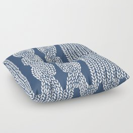 Cable Row Navy 1 Floor Pillow