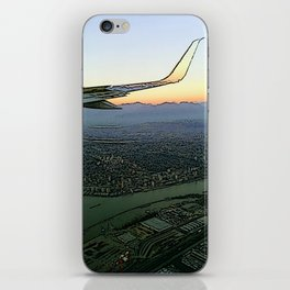 Landing together with the sun iPhone Skin
