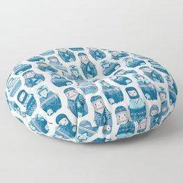 Matrioshkas Pattern Floor Pillow