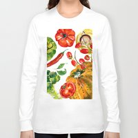 vegetable Long Sleeve T-shirts featuring Vegetable mix by Liliya Kovalenko