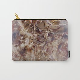 Marbled Petrified Wood Carry-All Pouch