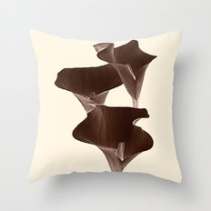 Brown Calla Lilly. Throw Pillow