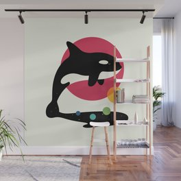 Jump Over Wall Mural