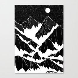 The snow bottom mountains Canvas Print