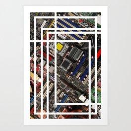 Computer boards Art Print