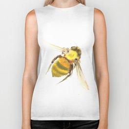 Bee, bee art, bee design Biker Tank