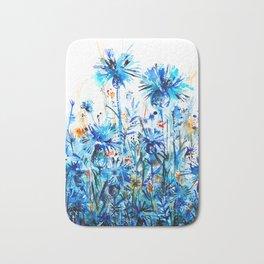 thickets of cornflowers Bath Mat