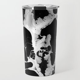 Black And White Wet Paint Modern Pattern Photography Travel Mug