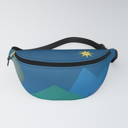Colorful Imaginary Landscape at Night Fanny Pack