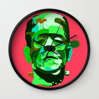 frank Wall Clocks featuring Frank. by Huxley Chin