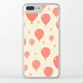 Red Balloons Clear iPhone Case