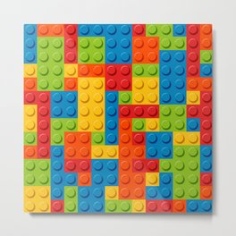Bricks geometric pattern Metal Print