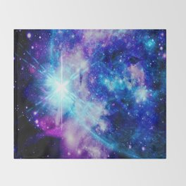 galaxy Nebula Star Throw Blanket