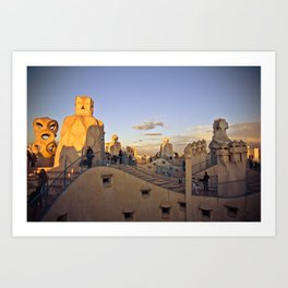 Barcelona: From the top of La Pedrera Art Print