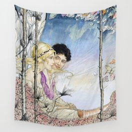 """""""On the Perfumed High Road"""" by Florence Anderson Wall Tapestry"""