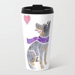 Watercolour Australian Cattle Dog Travel Mug