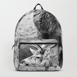 Stags - b/w Backpack