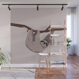 Sloth just hangin' Wall Mural