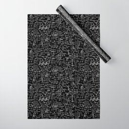 Physics Equations on Chalkboard Wrapping Paper