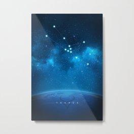 Taurus: Astrological Art Metal Print