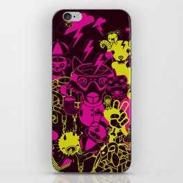 Dream Factory Pink and Yellow iPhone Skin