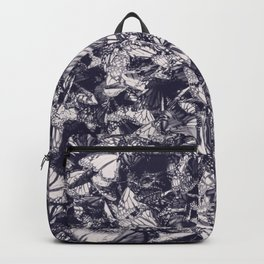 Indigo butterfly photograph duo tone blue and cream Backpack