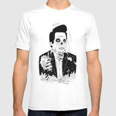 Dead Famous - Cash Mens Fitted Tee MEDIUM White